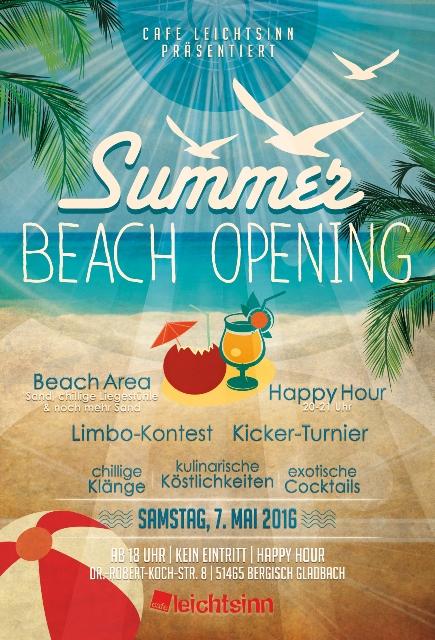 Beach – Eröffnung am 7. Mai